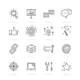 Seo vetor line icons Stock Photo