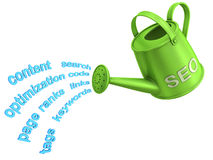 SEO watering can Royalty Free Stock Photography
