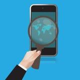 SEO, Web, Analytics, cellphone, clip art, illustration Royalty Free Stock Photos