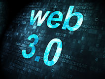 SEO web design concept: Web 3.0 on digital background Stock Images