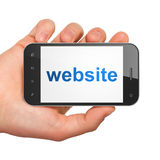 SEO web design concept: Website on smartphone Stock Image