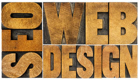 SEO and web design word abstract Stock Image