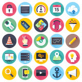SEO and Web Development Flat Icon Set Stock Images