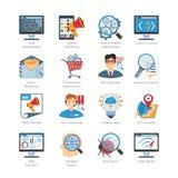 SEO And Web Development Flat Icons Set Royalty Free Stock Photo