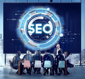 SEO Web Development Technology Online-Konzept Lizenzfreies Stockfoto