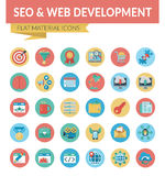 SEO & WEB DEVELOPMENT stock illustration