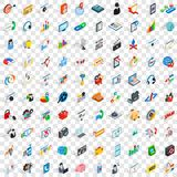 100 seo and web icons set, isometric 3d style. 100 seo and web icons set in isometric 3d style for any design vector illustration Royalty Free Illustration