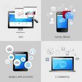 SEO web mobile concepts Stock Images