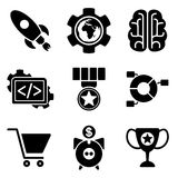 SEO web and mobile logo icons collection Royalty Free Stock Photography