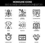 Seo and web opimization Stock Photos
