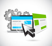 Seo web responsive site illustration Stock Photos