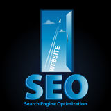 Seo website door Royalty Free Stock Photos