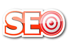 Seo word Stock Photography