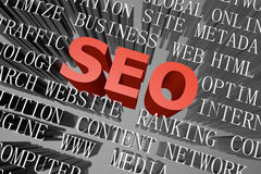 SEO word cloud Royalty Free Stock Images