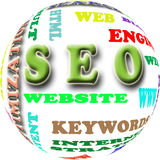 SEO. The word cloud of the S E O - Search Engine Optimization Stock Images