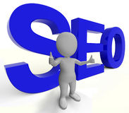 Seo Word Represents Internet Optimization Royalty Free Stock Image