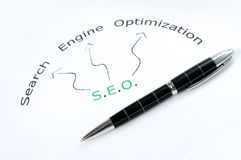 SEO word Stock Images