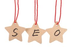 SEO word Stock Image