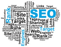 SEO Wordcloud Royalty Free Stock Image