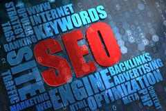 SEO -  Wordcloud Concept. Royalty Free Stock Images