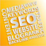 Seo words Stock Image