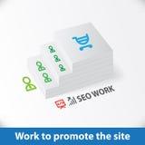 Seo work infographics Stock Photos