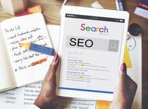 SEO wyszukiwarki optymalizacja Biznesowy Marketingowy pojęcie Zdjęcie Stock
