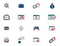SEO y del desarrollo iconos simplemente Fotografía de archivo libre de regalías