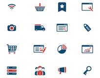 SEO y del desarrollo iconos simplemente Imágenes de archivo libres de regalías