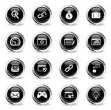 SEO y del desarrollo iconos simplemente Imagenes de archivo