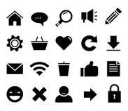 SEO y web determinado del icono del vector de Internet, sitio web stock de ilustración
