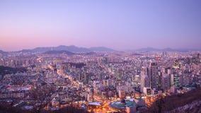 Seoel, De Horizon van Zuid-Korea stock footage