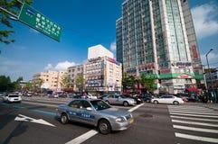 Seoel, De straat van Zuid-Korea royalty-vrije stock afbeelding