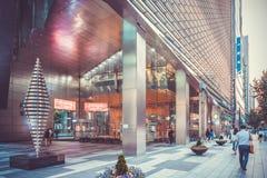 SEOEL, KOREA - AUGUSTUS 13, 2015: Het gebied van het Gangnamdistrictskantoor van de hoogste ondernemingen van Korea ` s in financ royalty-vrije stock foto