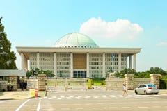 SEOEL, KOREA - AUGUSTUS 14, 2015: Nationale assemblee het Te werk gaan Zaal - Zuidkoreaanse die capitol - op Yeouido-eiland wordt Stock Afbeeldingen