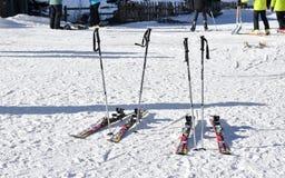Seoel, KOREA - JANUARI 28, 2017: Ski op de sneeuw Royalty-vrije Stock Fotografie