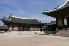 Seoel, 17 Korea-Mei, 2017: De Bouw van het Gyeongbokgungpaleis Royalty-vrije Stock Afbeeldingen