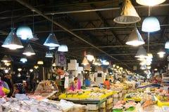 Seoel, Zuid-Korea, Mei 15, 2017 De markt van Noryangjinvissen Stock Afbeelding
