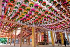 SEOEL, ZUID-KOREA - MEI 9: Bongeunsatempel stock afbeeldingen