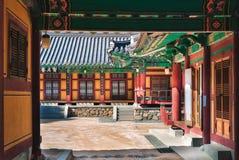 Seokguram Grotto. Traditional Korean architecture at Seokguram Grotto in Gyeongju, South Korea royalty free stock image