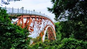 Seon Imgyo Pont rouge coréen dans Jeju-Do image libre de droits