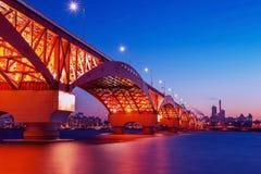 Seongsan桥梁在韩国 免版税库存图片
