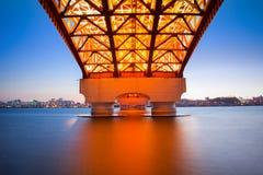 Seongsan-Brücke in Korea lizenzfreie stockfotos
