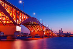 Seongsan bridge in korea Royalty Free Stock Images