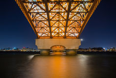 Seongsan bridge. royalty free stock image