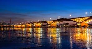 Seongsan brud på natten i vinter av seoul Royaltyfria Foton