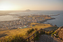 Seongsan Ichulbong, Jeju Photo libre de droits