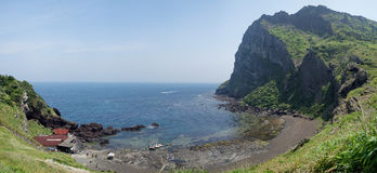 Seongsan Ilchulbong, Jeju, Νότια Κορέα Στοκ Φωτογραφία