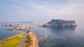 Seongsan Ilchulbong, Jeju-Insel, Südkorea stockfotografie