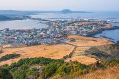Seongsan Ilchulbong, Jeju-Insel, Südkorea stockfoto